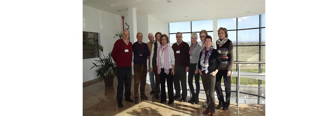 The classroom of the experience of the UPNA Tudela visits Uvesa Tudela.