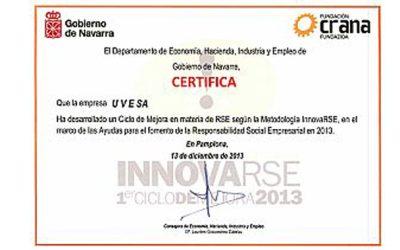 Planta de Aves de Uvesa (Tudela) reconocida por su RSE en Navarra
