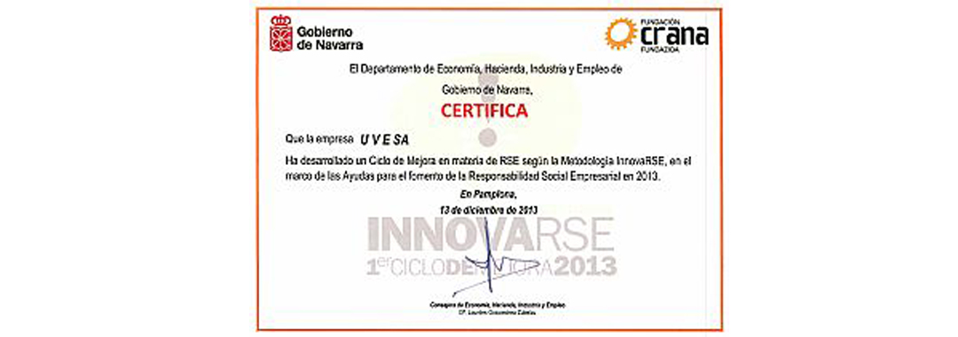 Slaughterhouse (Poultry processing plant) Tudela recognized by your CSR in Navarra