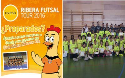 UVESA PATROCINA EL I TOUR RIBERA FUTSAL QUE VISITARÁ 22 COLEGIOS DE LA RIBERA DE NAVARRA