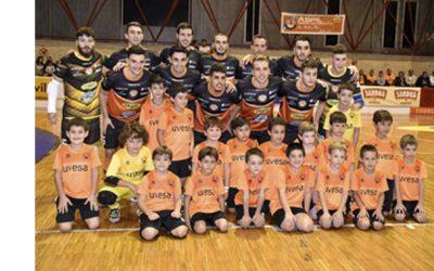 UVESA PATROCINA LA ESCUELA DE FÚTBOL SALA INFANTIL del Club Ribera Navarra en Tudela (Navarra)
