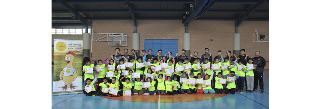 TOUR RIBERA FUTSAL in motion with the visit of the Aspil-Vidal to two schools in March