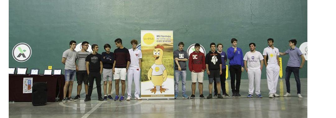 UVESA GROUP , SPONSOR OF THE TOURNAMENT XXX INTERSCHOOL CESTA PUNTA in Cabanillas (Navarra)