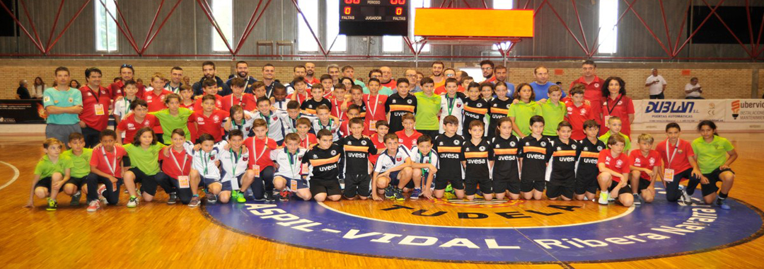 Uvesa Group has sponsored the Alevín team that has played the previous phase of the championship of Spain futsal room
