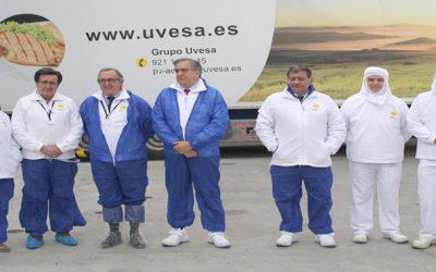 EL DELEGADO TERRITORIAL de la Junta de Castilla León,  JAVIER LÓPEZ-ESCOBAR, VISITA LAS INSTALACIONES DE UVESA EN CUÉLLAR