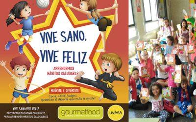 GOURMETFOOD y Uvesa en la parte final del primer proyecto 'VIVE SANO, VIVE FELIZ' que llega a 50 centros de Navarra