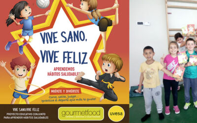 UVESA and GOURMETFOOD in the final stretch of the first educational project 'VIVE SANO, VIVE FELIZ' that reaches 50 centers in Navarra