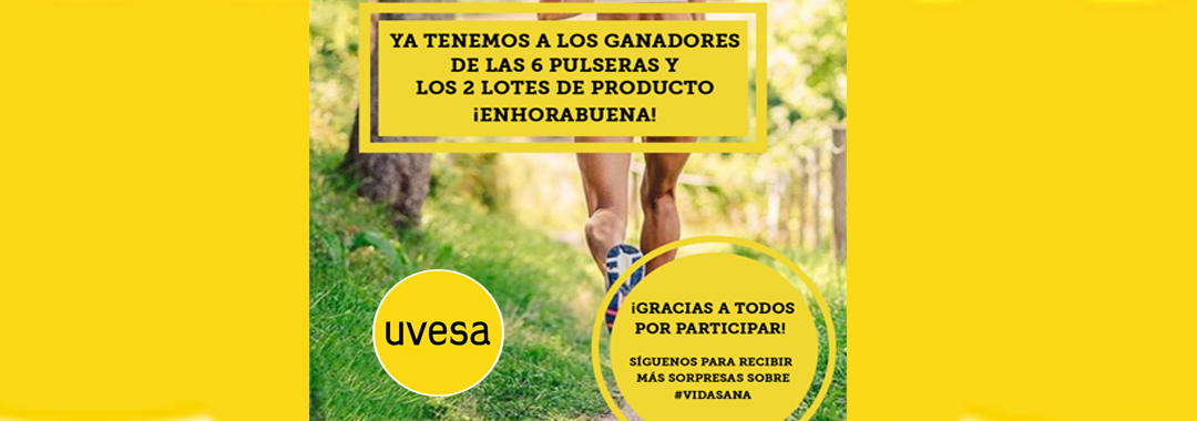 Ganadores de la nueva promoción Uvesa en Facebook: Vida sana con Uvesa en otoño