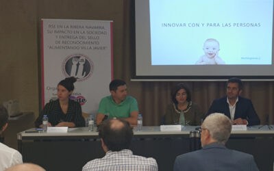 """UVESA participates in the CSR conference  on the Ribera Navarra and receives the """"Villa Javier"""" food Recognition Seal"""