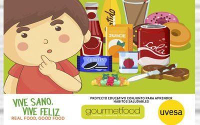 Uvesa y Gourmetfood, aliados de nuevo por una alimentación saludable para llegar a 50 centros educativos de Navarra