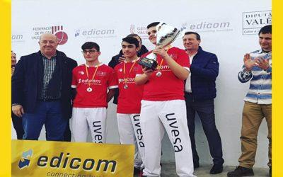 Uvesa patrocina al Club Pilota Marquesat de Alfarp (Valencia)