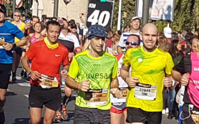 The Uvesa team participates in the Valencia marathon