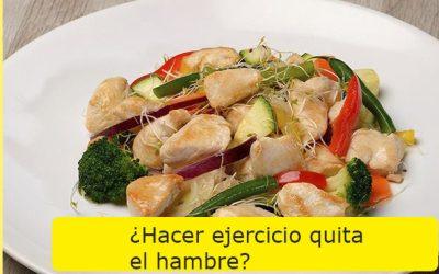 ¿Hacer ejercicio quita el hambre?