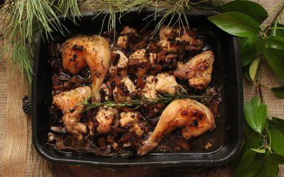 Pollo con aroma de campo