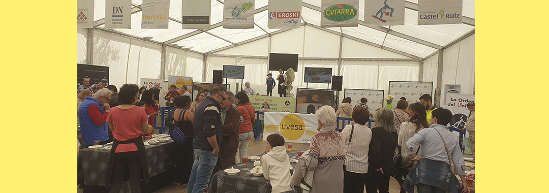"Grupo Uvesa participates in a tasting of popular festivals ""XXV Jornadas de las Verduras"" in Tudela"