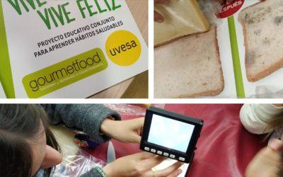 """Succès de l'atelier sur les habitudes saines """"Le monde minuscule"""" organisé dans les écoles de Navarre et organisé par Uvesa et Gourmeftood"""