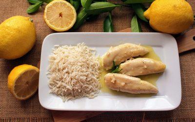 Solomillos de pollo al limón