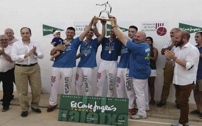 Uvesa orgulloso patrocionador del Club Pilota Ovocity Marquesat que acaba de proclamarse campeón del Trofeo El Corte Inglés