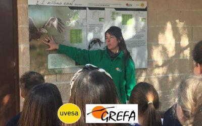 Culmina con éxito la colaboración educativa entre Uvesa y el Grupo de Rehabilitación de la fauna autóctona y su hábitat (Grefa)