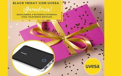 Ganadores del sorteo: Black Friday con Uvesa