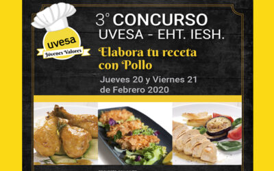 "Group Uvesa supports the talent of young chefs with the 3rd contest ""Make your recipe for chicken"""