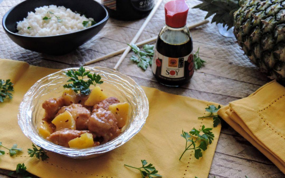 Pollo con piña (estilo chino)