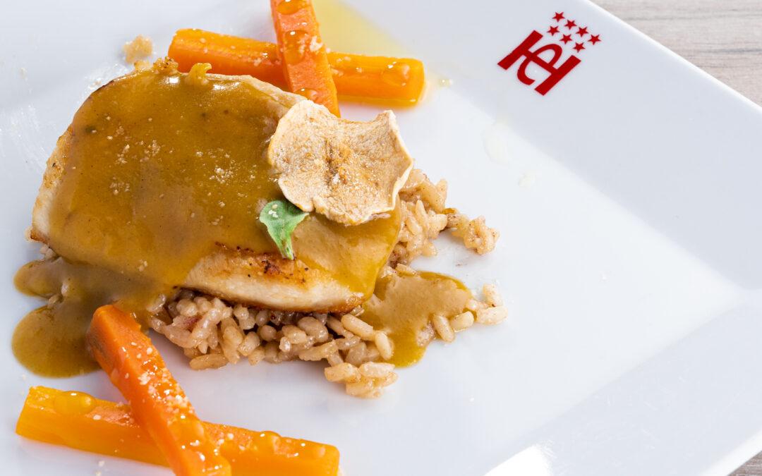 Receta: Pechuga de pollo con velouté de gofio