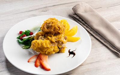 Receta: Pollo con canónigos y cítricos