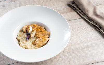 Receta: Solomillo de pollo con risotto de setas caramelizadas