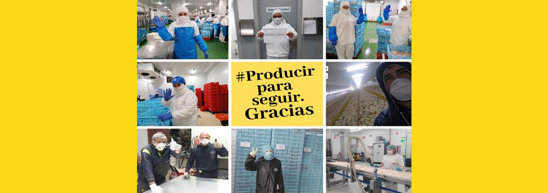 Uvesa con el mensaje #producirparaseguir de Propollo gracias a sus trabajadores y también #todoirabien y #juntosloconseguiremos