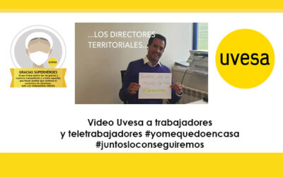 Video Uvesa agradecemiento a trabajadores y teletrabajadores: #juntosloconseguiremos,  #yomequedoencasa