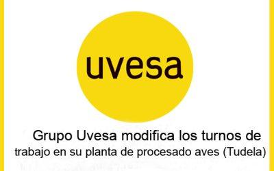 Grupo Uvesa modifica los turnos de trabajo en su planta de procesado de aves (Tudela)