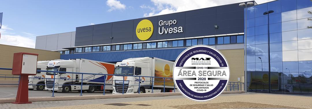 Grupo Uvesa en su planta Tudela, acreditado como entorno seguro por la aplicación de medidas contra la Covid-19
