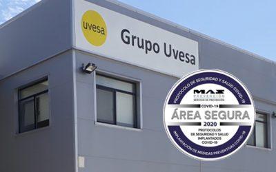 Grupo Uvesa en Casarrubios, acreditado como entorno seguro por la aplicación del medidas contra el Covid-19
