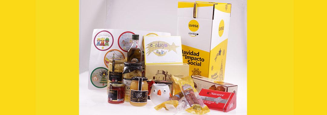 Grupo Uvesa apoya al pequeño comercio local con sus cestas de Navidad