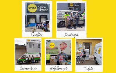 Grupo Uvesa donates 2,500 kilos of chicken thanks to its first virtual solidarity race