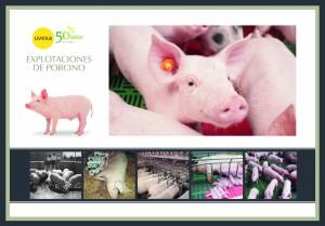 Poster realizado del Área Porcino que resume los 50 años de historia de Uvesa.